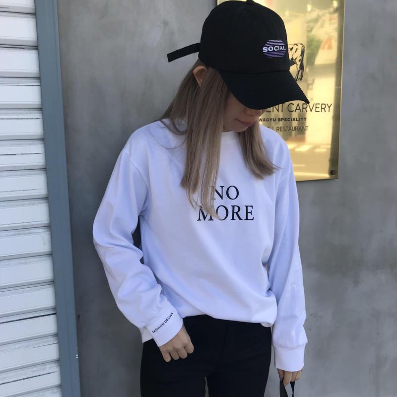 ソフト生地ロンT「NO MORE」