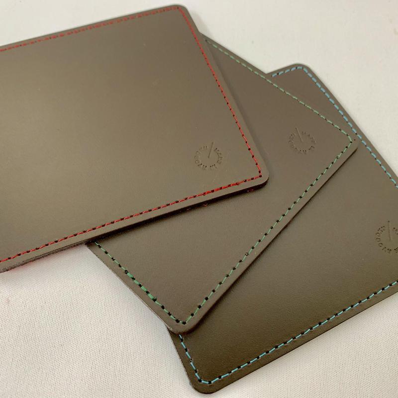新製品 Leather 印鑑マット