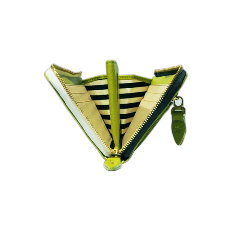 ARIZONA pistachio green with  black zipper