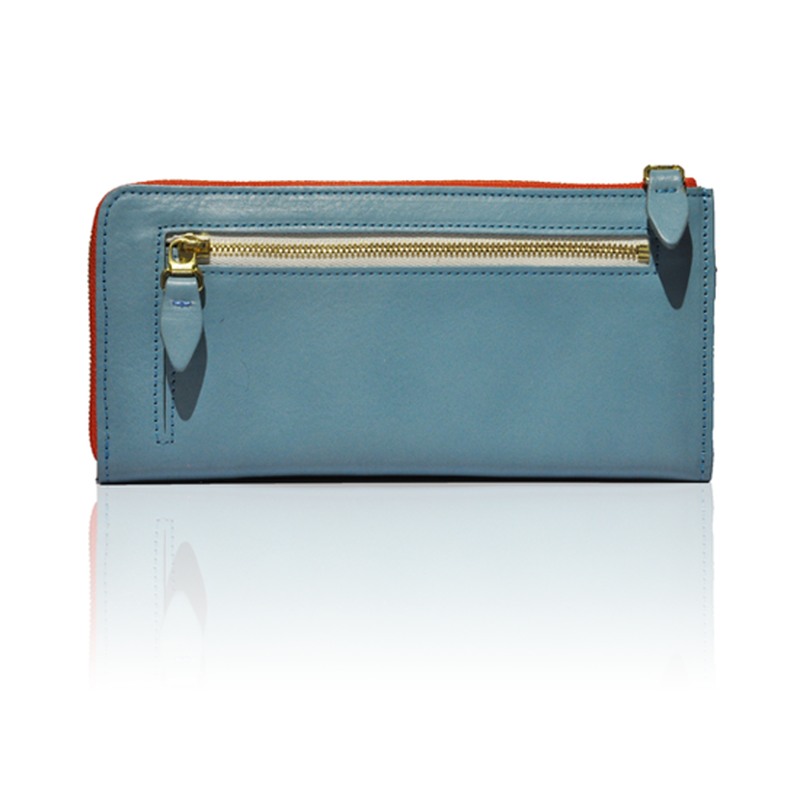 ARIZONA heaven blue with  orange-stripe zipper