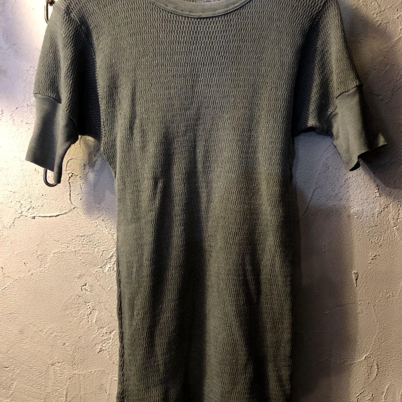 70,s vintage U.S.A. 袖リブストレッチMilitary Tee