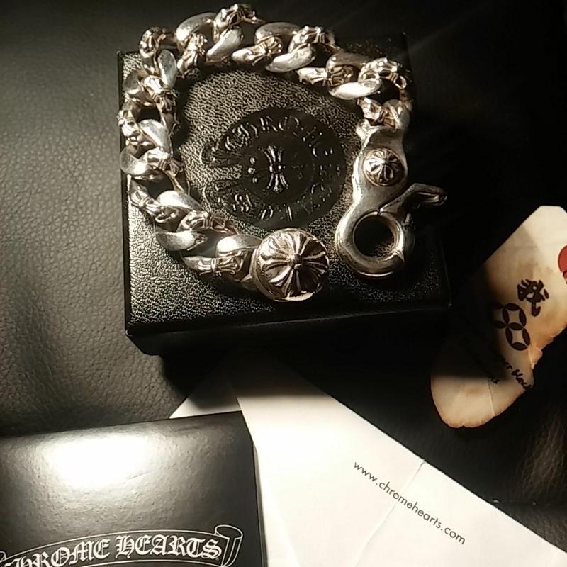 Chrome Hearts FANCY CHAIN Link  BRACELET 大阪心斎橋直営店2013ギャランティー美品