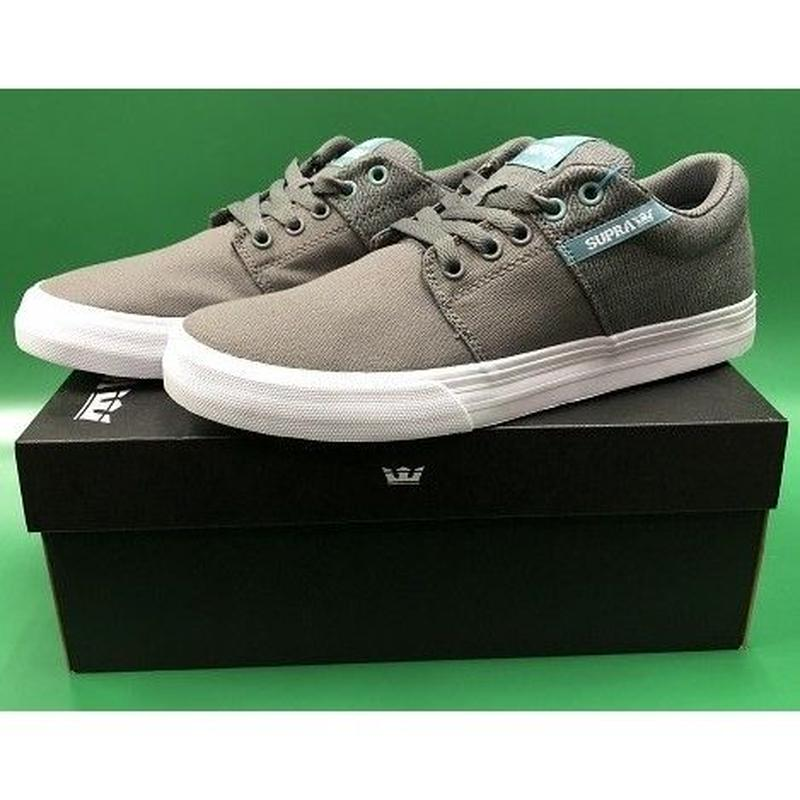 "Supra / ""Stacks Vulc 2"" Grey / A.White 8.5inch (26.5cm)"