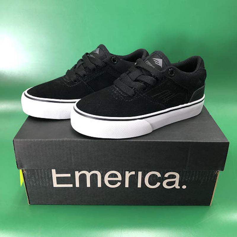 "Emerica / ""Reynolds Low Vulc Youth"" Black / White 12c (18cm)"