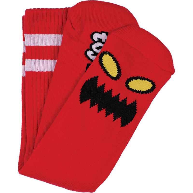"""Toy Machine / """"Monster Face Sock"""" Red"""