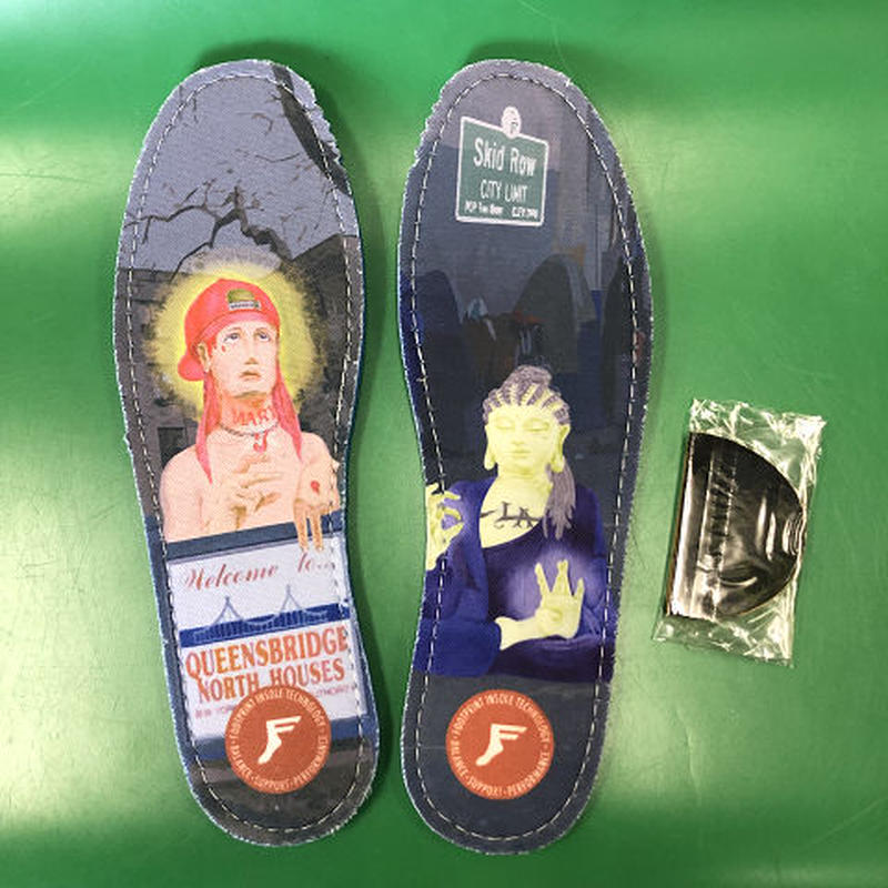 "Footprint Insole / ""East vs West"" 9~9H 7mm"