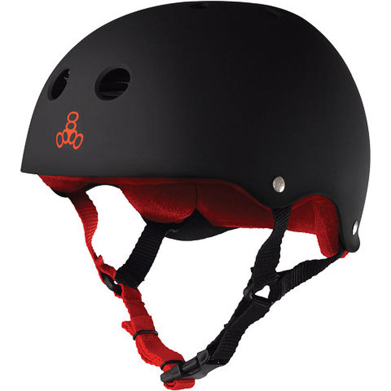 "Triple Eight Helmet / ""Sweatsaver Liner"" Black / Red / XS"