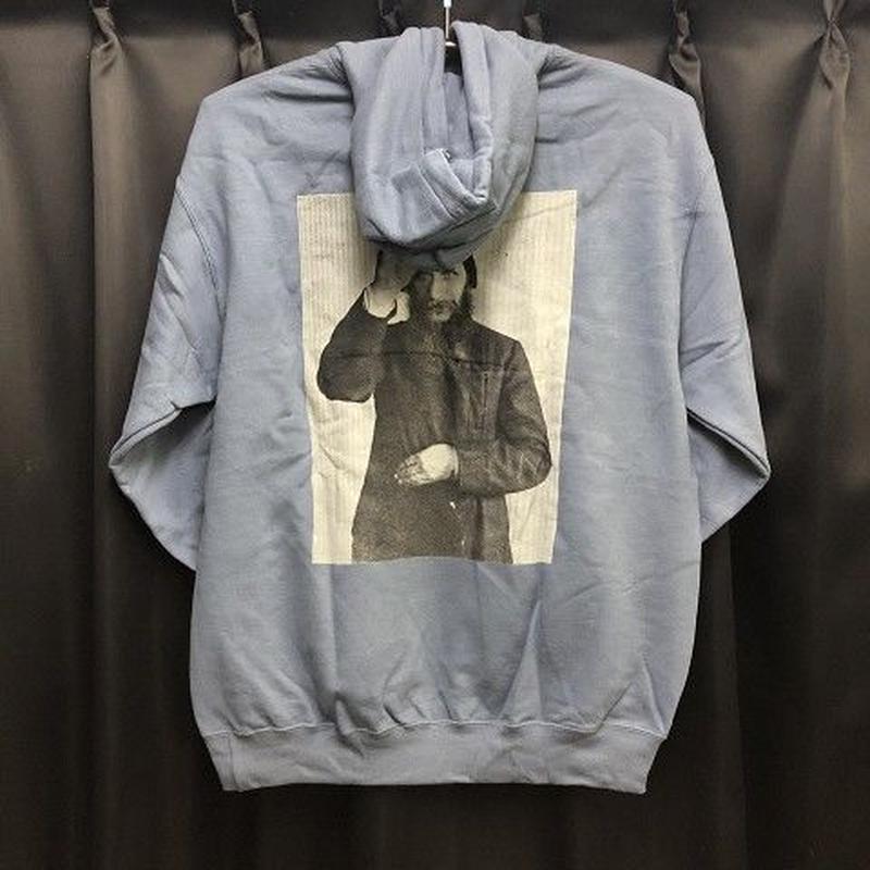 """Theories / """"Rasputin Pullover Hoodie"""" Steel Blue / L"""