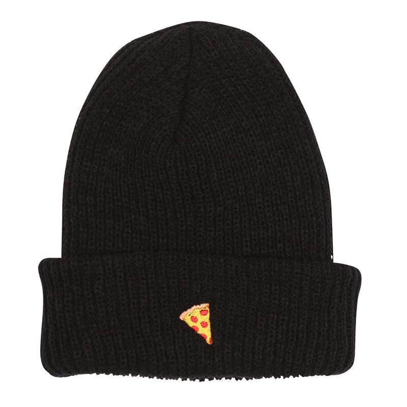 "Pizza / ""Emoji Beanie"" Black"