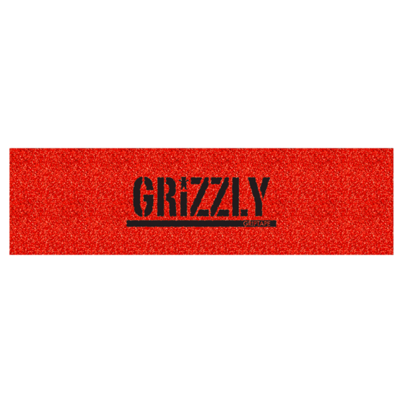 "Grizzly / ""Glitter Stamp Griptape Red"""