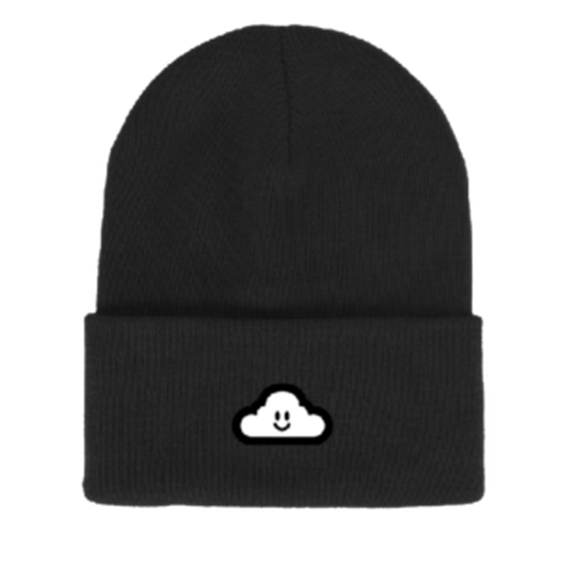 "Thank You / ""Cloudy Beanie"" Black"