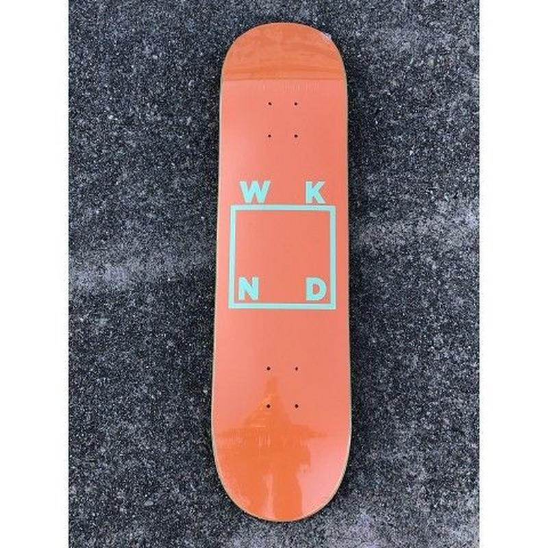 "WKND / ""Logo Deck"" Orange 8.0inch"