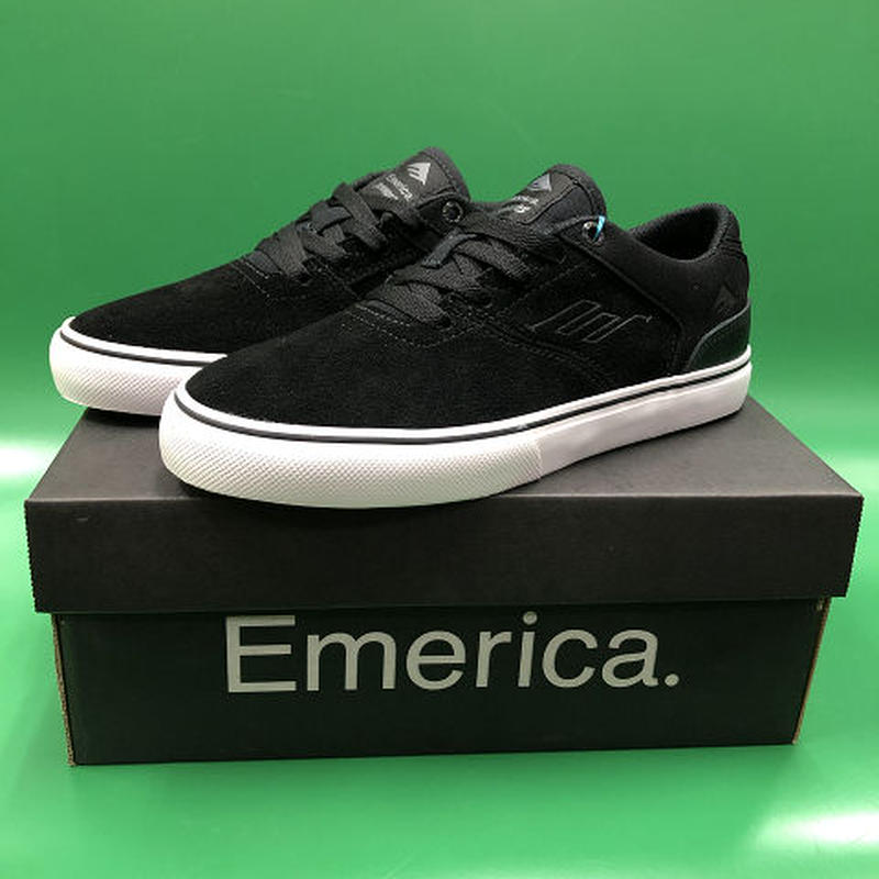 "Emerica / ""Reynolds Low Vulc Youth"" Black / White 5inch (23cm)"