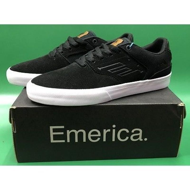 "Emerica / ""Reynolds Low Vulc"" Black / Brown 6.5inch (24.5cm)"