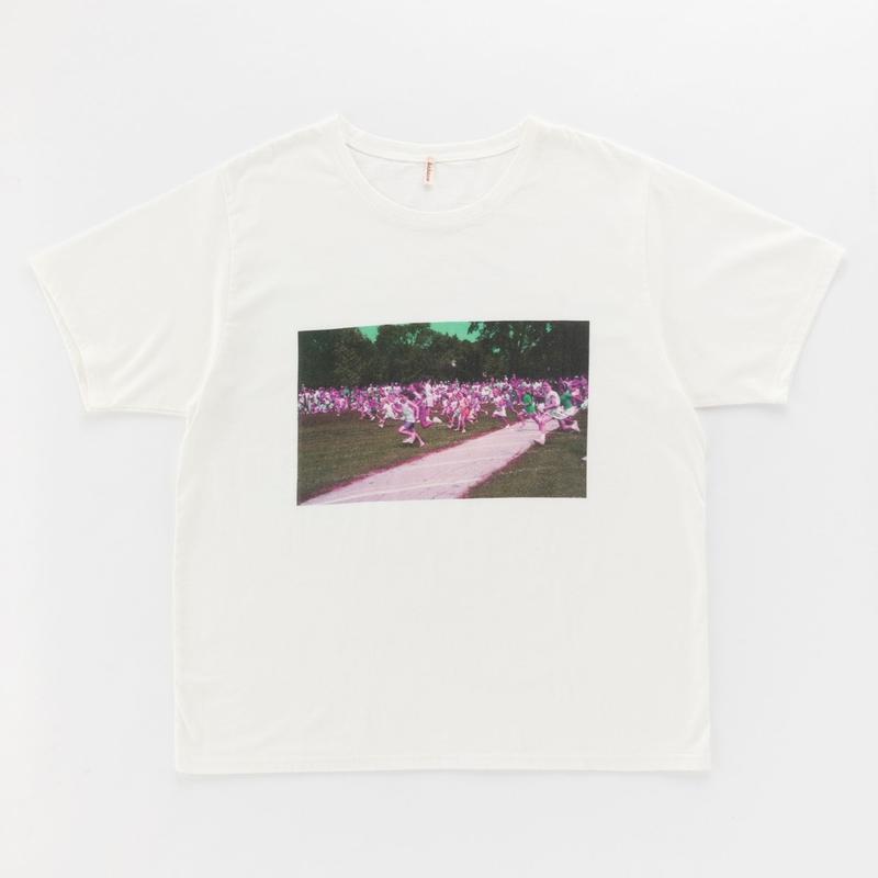 "t-shirt with ""RUN!"" print"