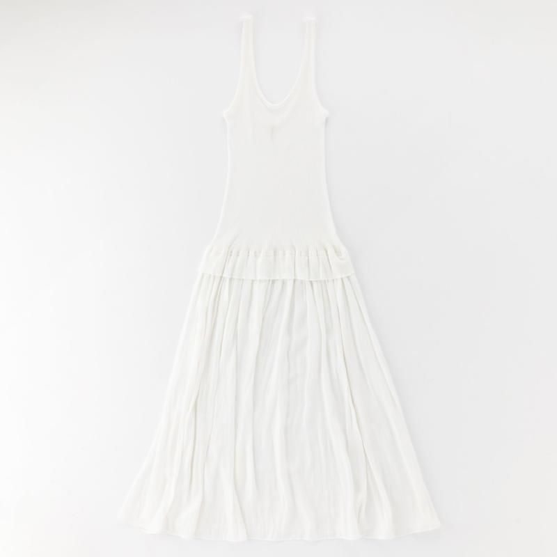 cotton fine ribbed inner dress