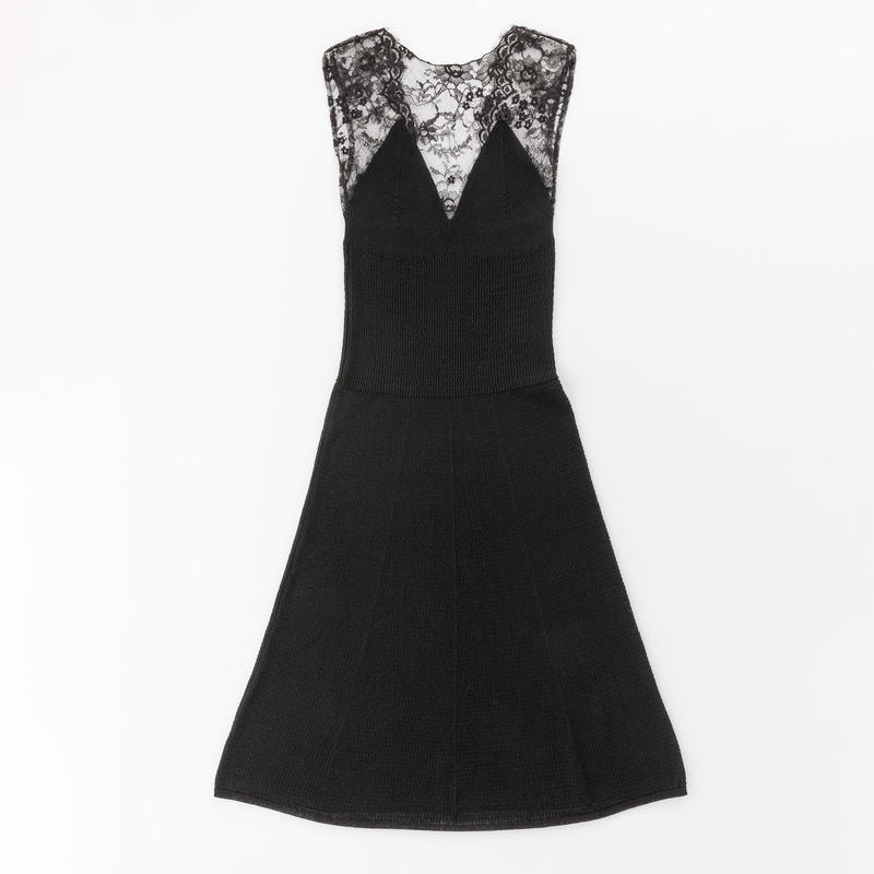 dress with leavers lace