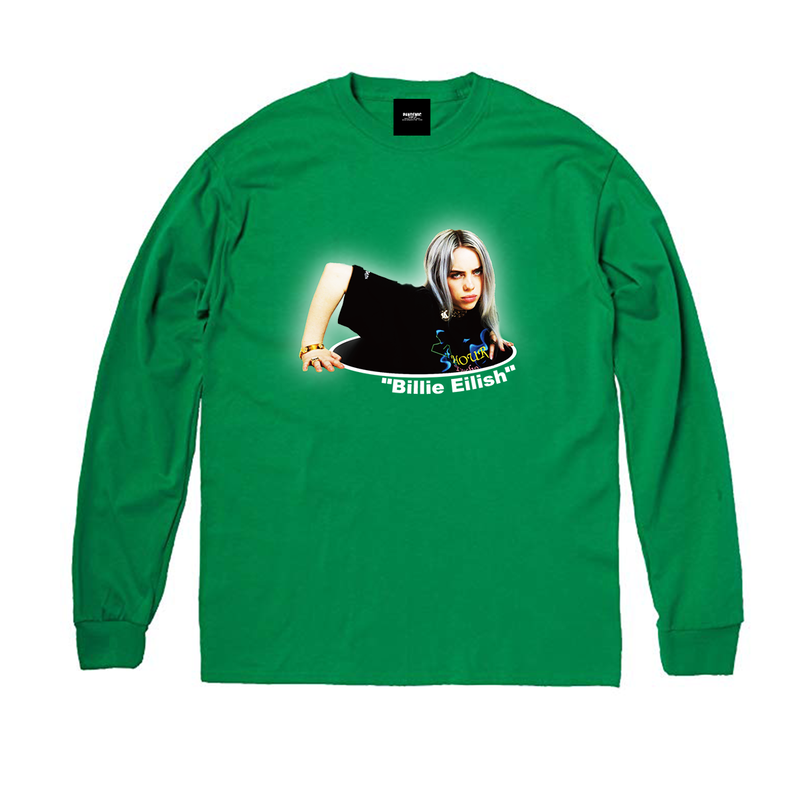 """19SS""  PANDEMIC  PDMC Photo L/Tee ""Billie Eilish""    -Green-"