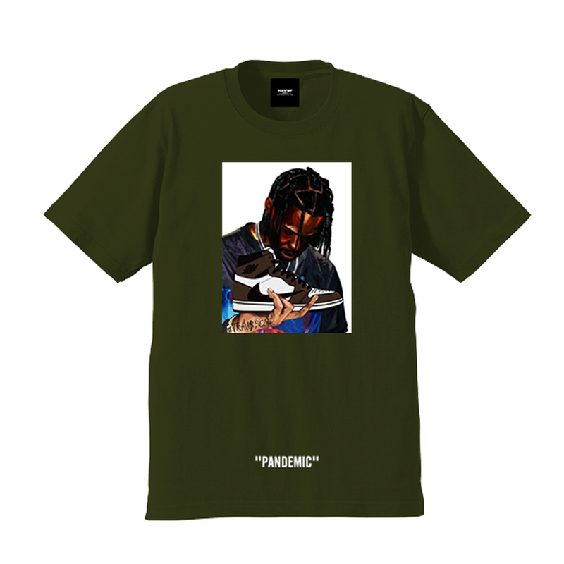 """19SS""   PANDEMIC パンデミック  Kicks Scott  Tee  -Travis Scott×Jordan1-   -3color-"