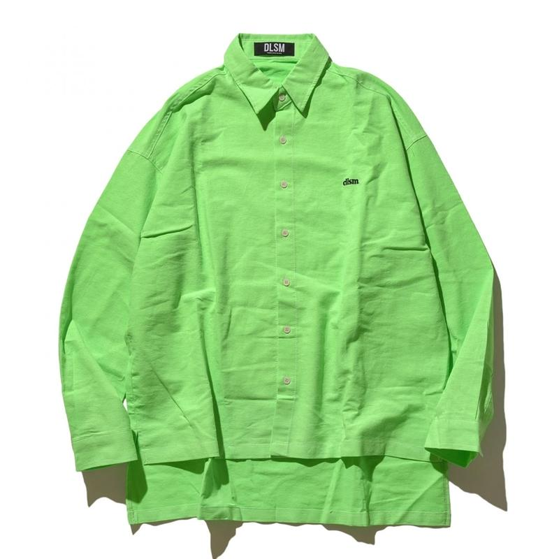 """19SS"" DLSM ディーエルエスエム DLSM SMALL LOGO NEON COLOR BIG SHIRT -S.Green-"