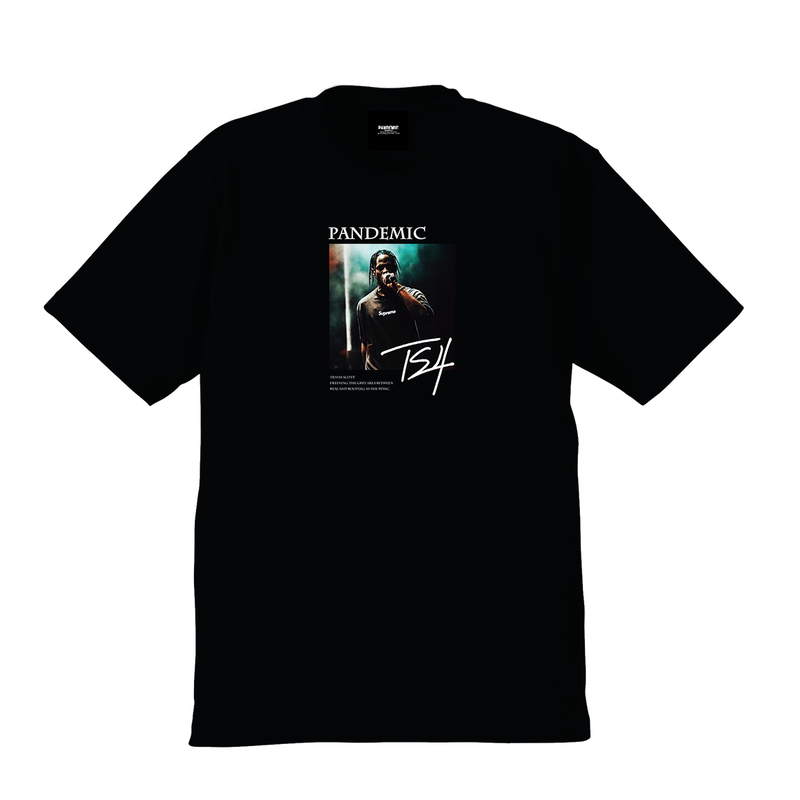 """19SS""  PANDEMIC  PDMC TRAVIS TS Limited Photo Tee  3 -Black-"