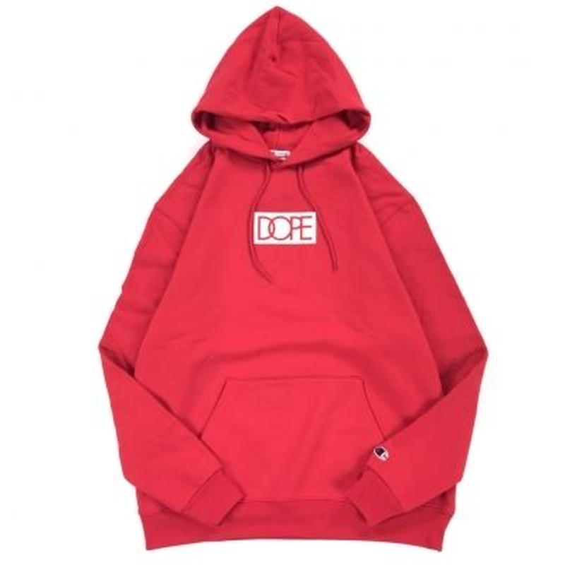 """18AW"" DOPE  / ドープ  CHAMPION BODY Box logo Hoody-Scaret-"