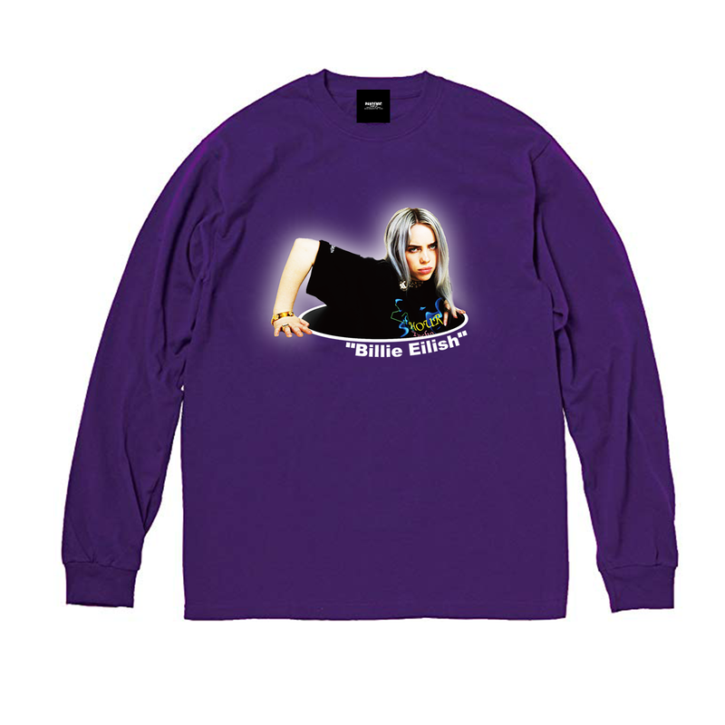 """19SS""  PANDEMIC  PDMC Photo L/Tee ""Billie Eilish""    -Purple-"