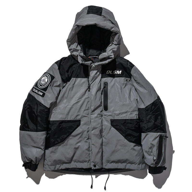 """18AW""  DLSM ディーエルエスエム REFLECT BATTING JACKET -Silver-"
