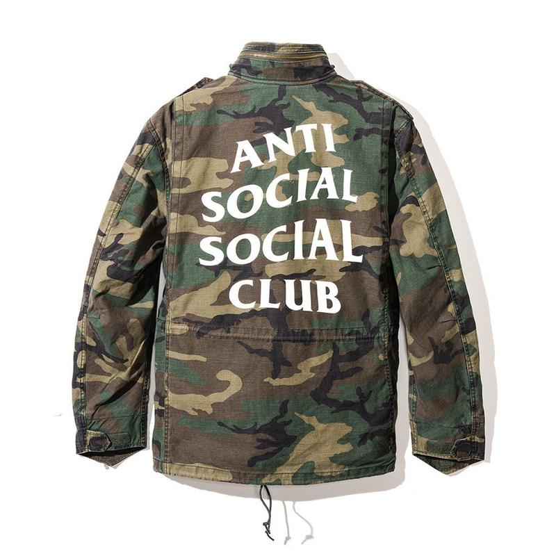 ANTI SOCIAL SOCIAL CLUB  アンチソーシャルクラブ ASSC ×ALPHA INDUSTRIES  Defender Jacket Dark Camo -1color-
