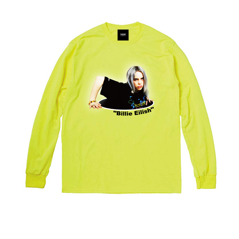 """19SS""  PANDEMIC  PDMC Photo L/Tee ""Billie Eilish""    -Yellow-"