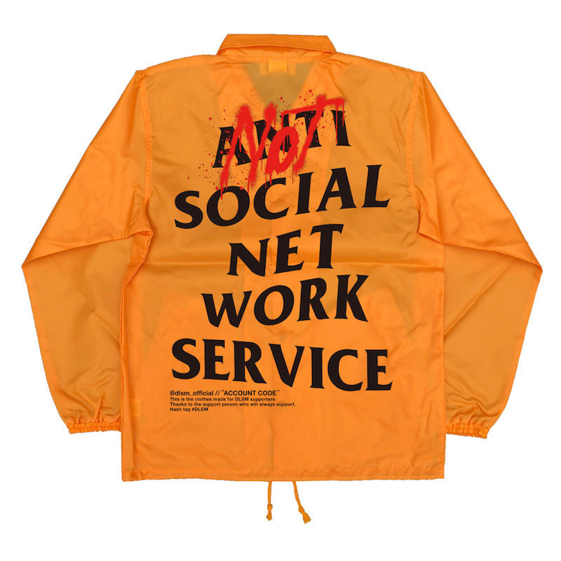 """18SS""  DLSM ディーエルエスエム NOT ANTI SNS COACH JACKET  -Orange-"
