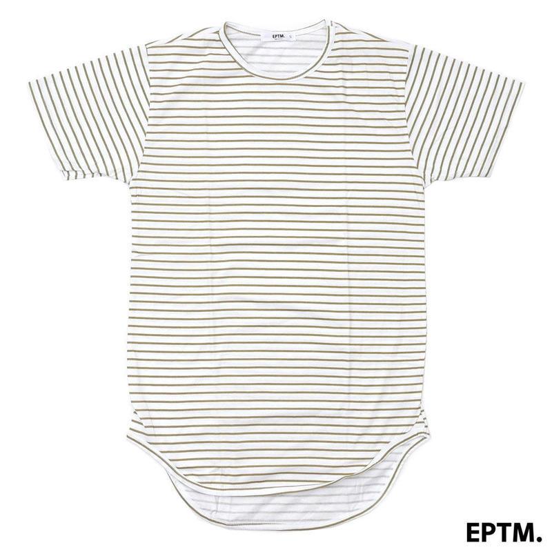 """18SS"" EPTM. / エピトミ STRIPE COTTON LONG TEE  ロングレングスTシャツ -White-"