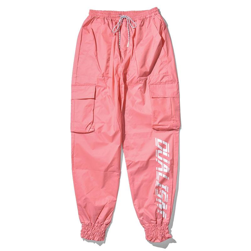 """18SS""  DLSM ディーエルエスエム DLSM RAIN MAKER NYLON CARGO PANTS -L.Pink-"