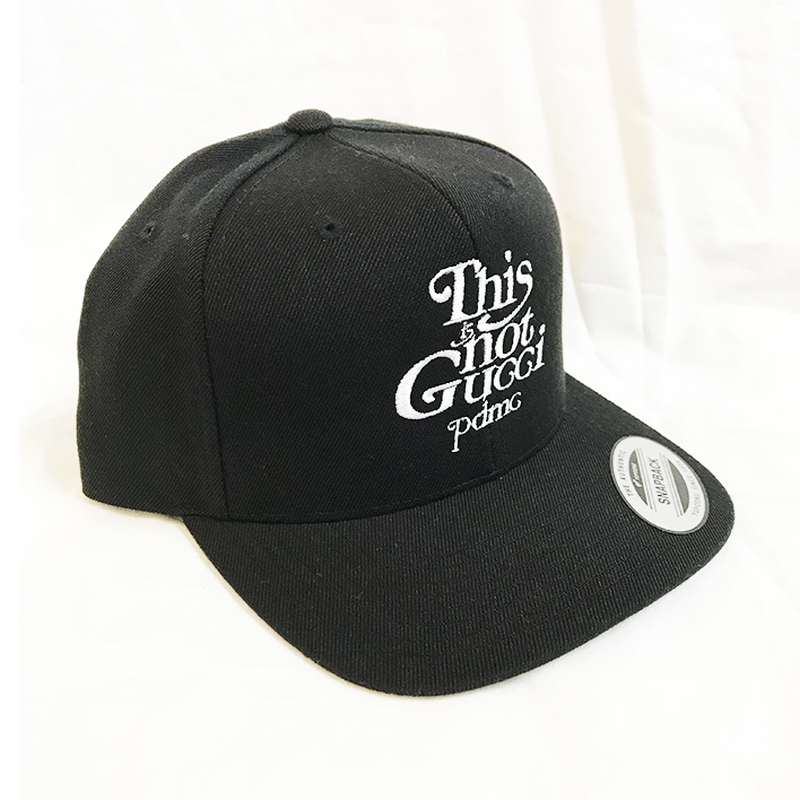 """19SS""  PANDEMIC  パンデミック   Snap Back Cap -This is not-  -Black/White-"