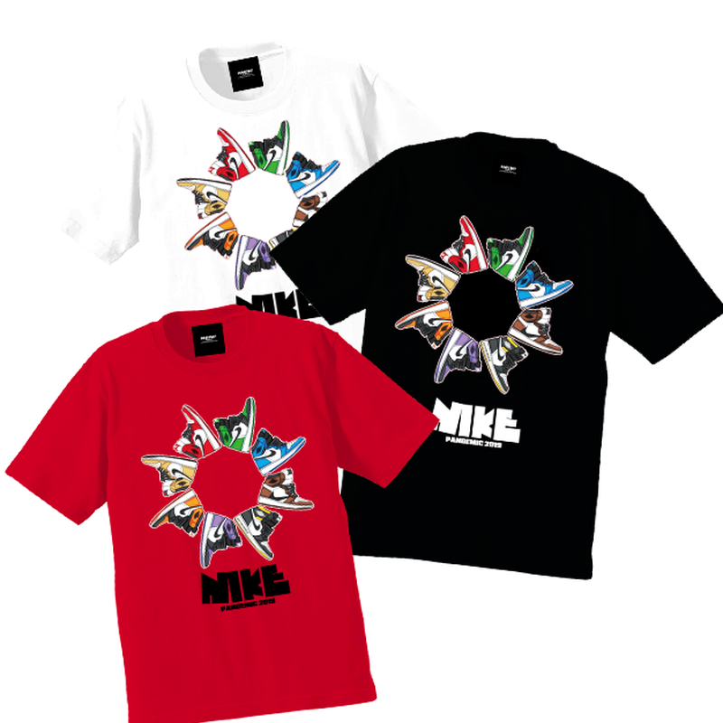 """19SS""  PANDEMIC  PDMC AJ1 wheel Tee - 3color -"