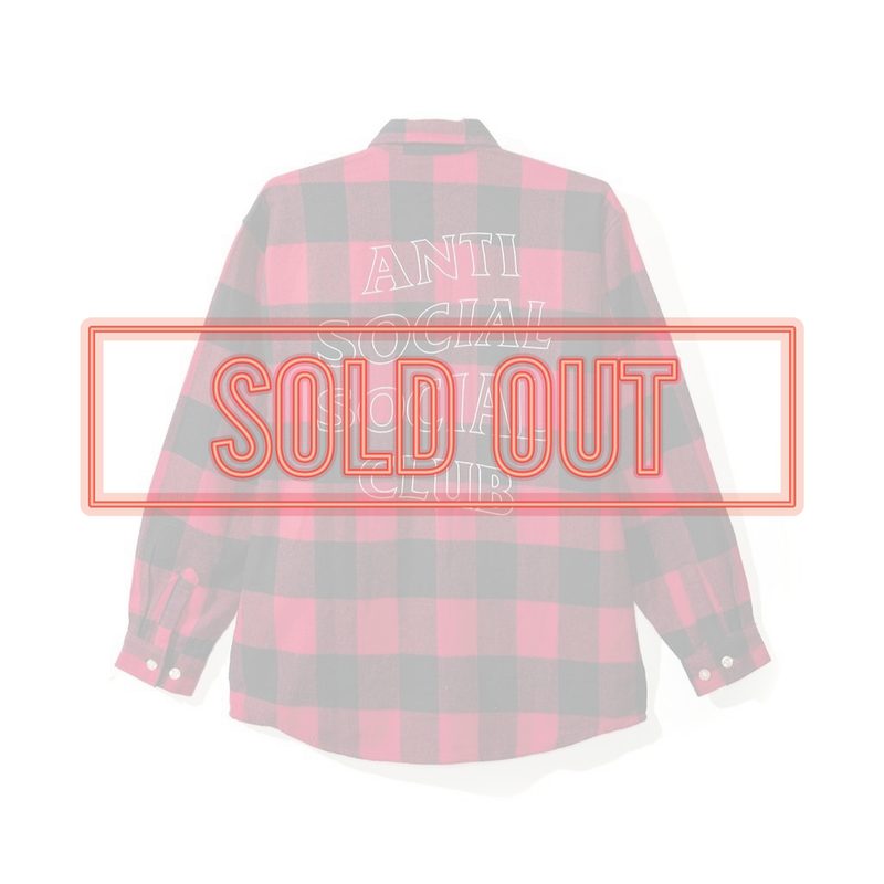 ANTI SOCIAL SOCIAL CLUB  アンチソーシャルクラブ ASSC  Trip Flannel Shirt -Red-