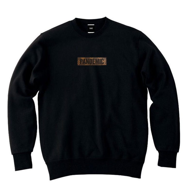 """18AW"" PANDEMIC  Re Castom Sweat   -L Box Logo-  -Black-"