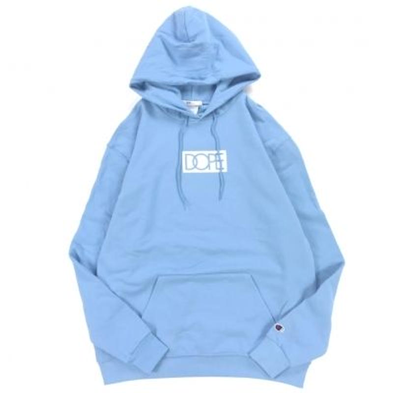 """18AW"" DOPE  / ドープ  CHAMPION BODY Box logo Hoody -L.Blue-"