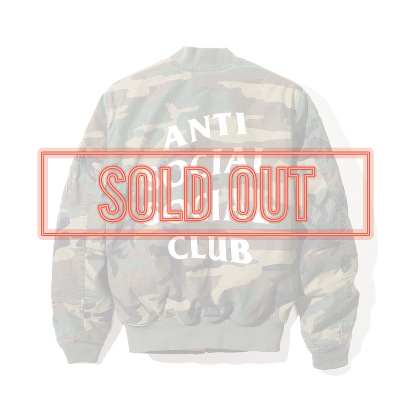 ANTI SOCIAL SOCIAL CLUB  アンチソーシャルクラブ ASSC  SR22 MA-1 Jacket Dark Camo -1color-