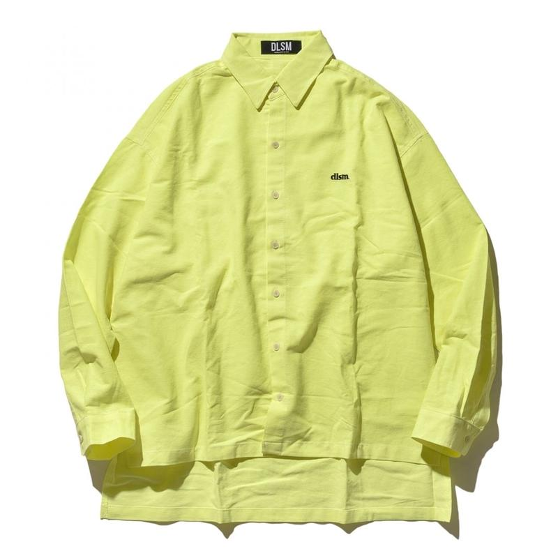 """19SS"" DLSM ディーエルエスエム DLSM SMALL LOGO NEON COLOR BIG SHIRT -S.Yellow-"