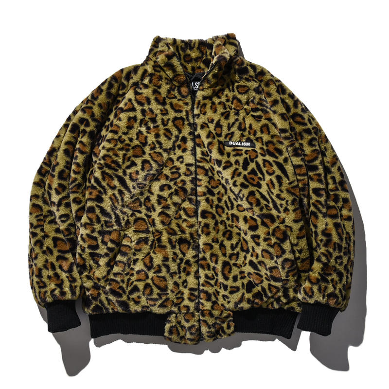 """18AW"" DLSM ディーエルエスエム LEOPARD FUR JACKET -Brown-"