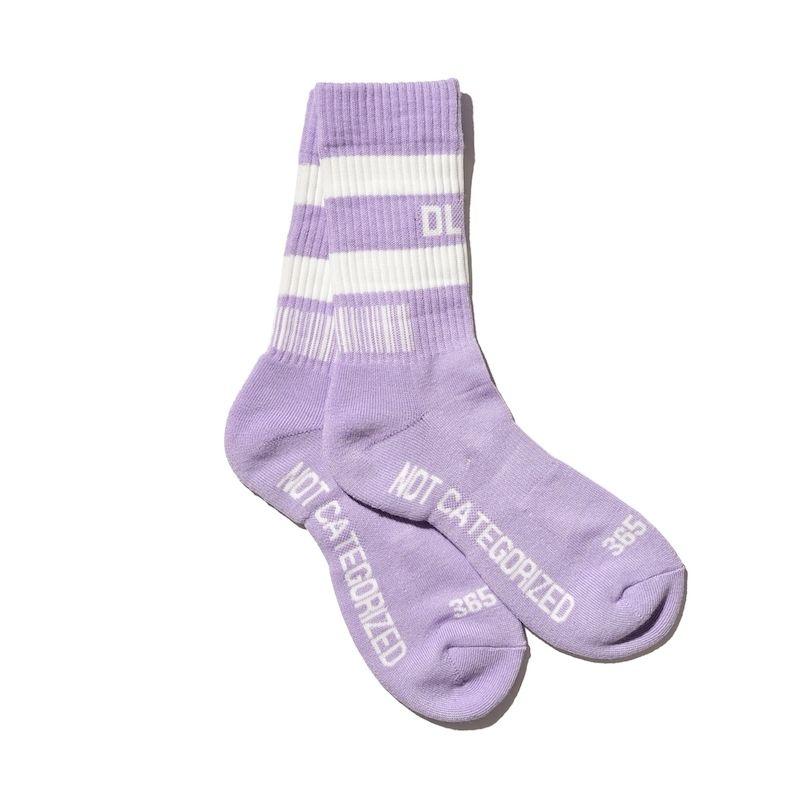 新色追加!! DLSM ディーエルエスエム DLSM LINE SOCKS  -Purple×White-