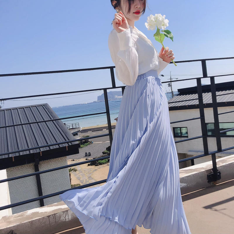 【春の新作】Like an angel Skirt【Sky Blue】