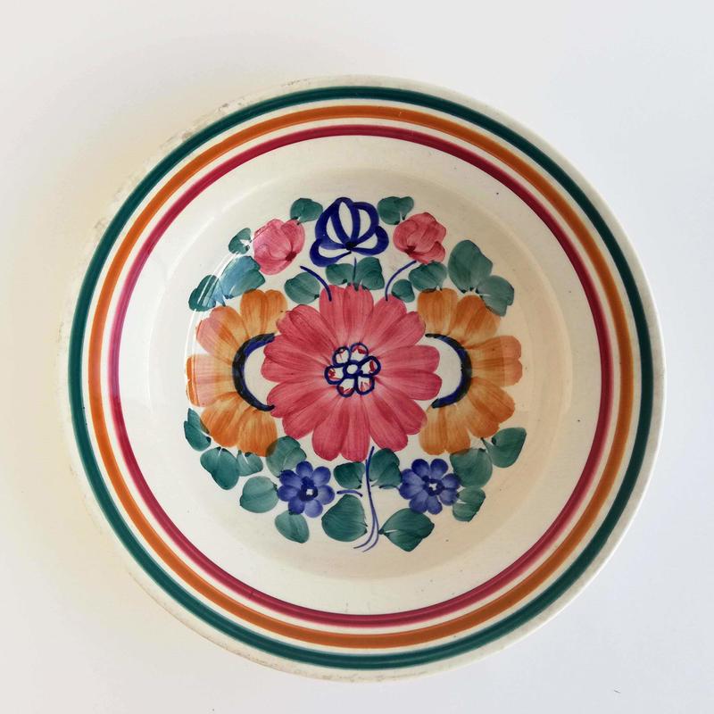 ヴウォツワヴェク陶器 スープ皿(直径24.5cm)#3418