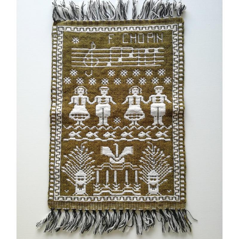 ヤノフ村の織物 タペストリー ショパン #1452