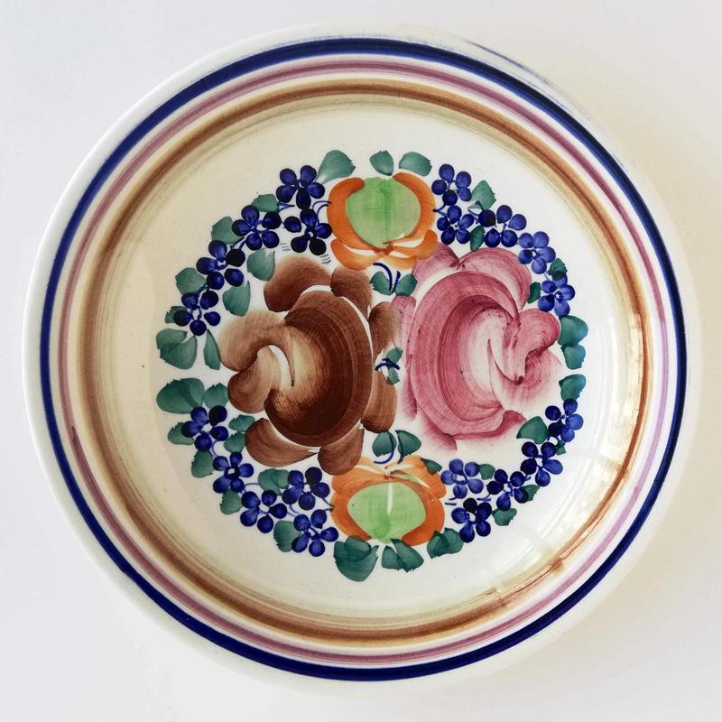 ヴウォツワヴェク陶器 平皿(直径24cm)#645