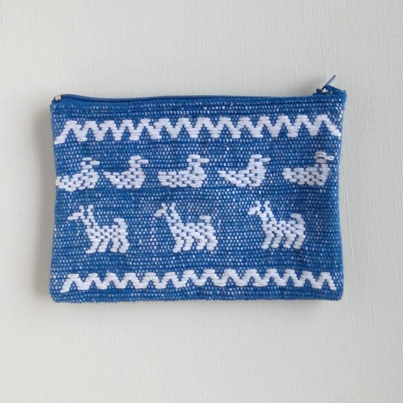 オアハカの手織り サン・マテオのポーチ(M) アヒル、シカ、リス