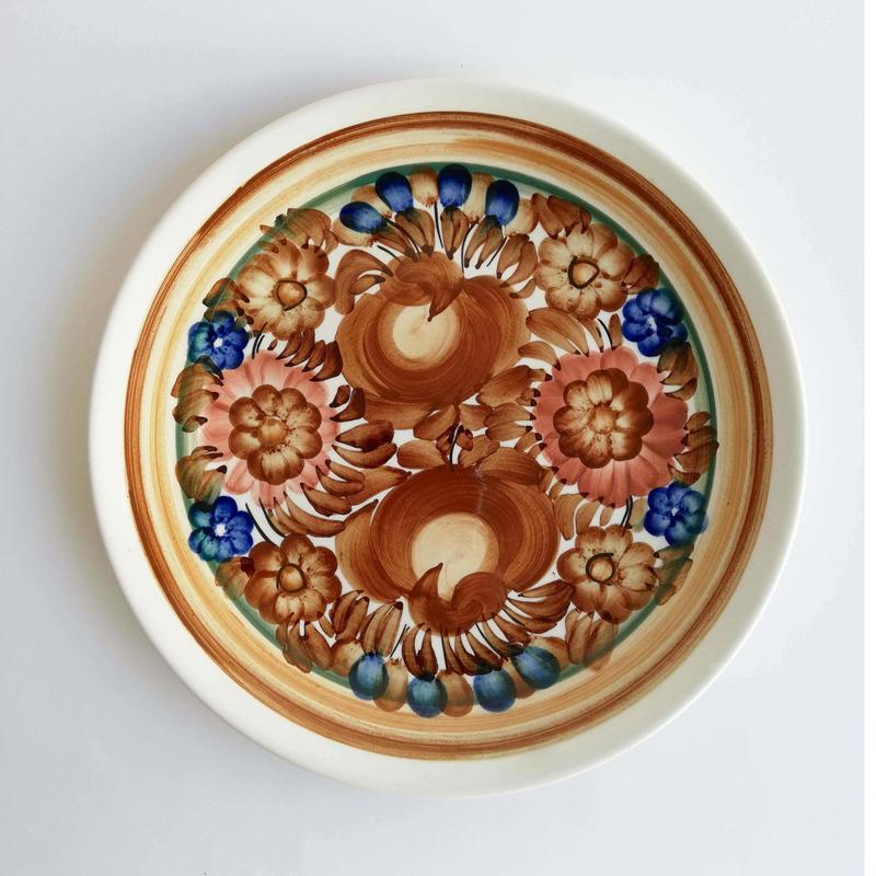 ヴウォツワヴェク陶器 平皿(直径24cm)#3555