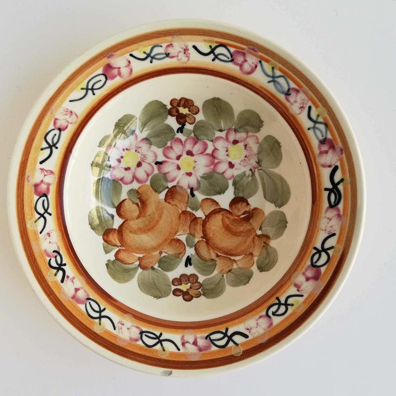 ヴウォツワヴェク陶器 中皿(直径17.5cm)#3523