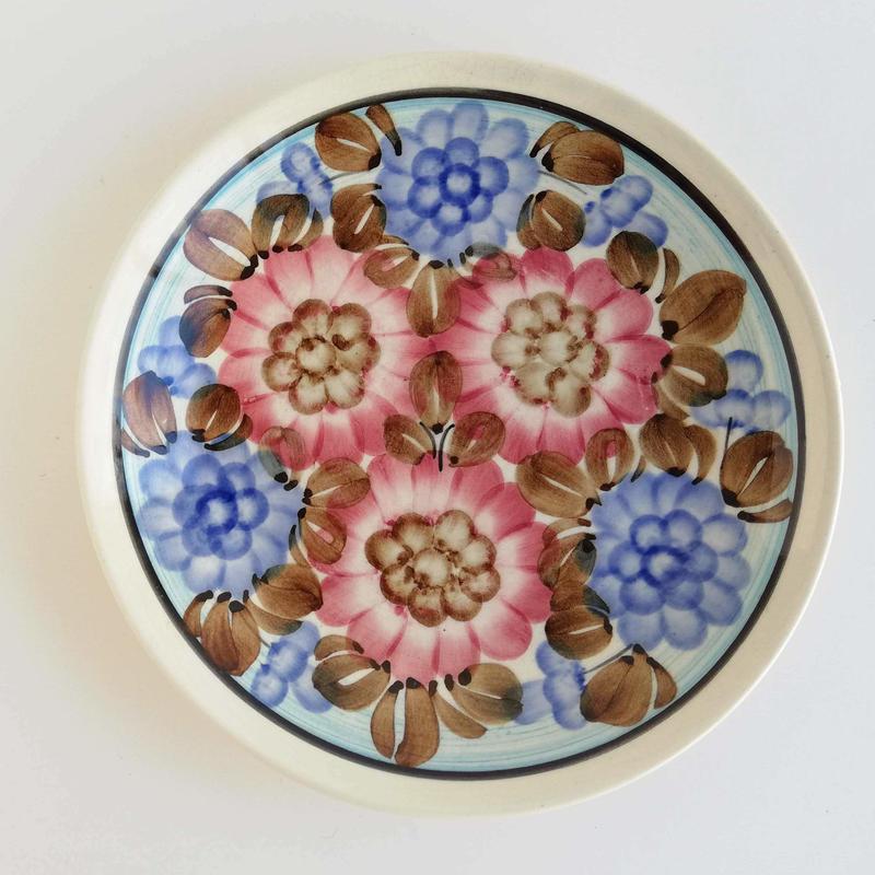 ヴウォツワヴェク陶器 平皿(直径17.5cm)#3238